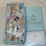 Alberon Lily Porcelain doll 14 inch approx very nice with teddy boxed @sold@